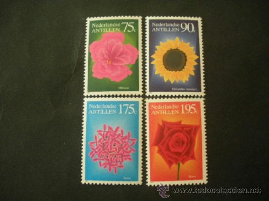 ANTILLAS HOLANDESAS 1993 IVERT 944/7 *** FLORA - FLORES INDIGENAS (Sellos - Temáticas - Flora)