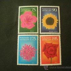 Sellos: ANTILLAS HOLANDESAS 1993 IVERT 944/7 *** FLORA - FLORES INDIGENAS. Lote 37479602