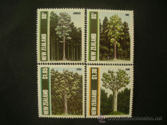 NUEVA ZELANDA 1989 IVERT 1034/7 *** FLORA - ARBOLES DE NUEVA ZELANDA (Sellos - Temáticas - Flora)