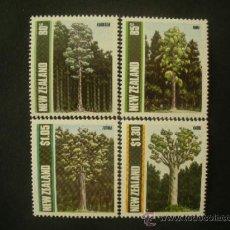 Sellos: NUEVA ZELANDA 1989 IVERT 1034/7 *** FLORA - ARBOLES DE NUEVA ZELANDA . Lote 37610313