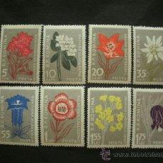 Sellos: RUMANIA 1957 IVERT 1517/24 * FLORA - FLORES DIVERSAS DE LOS CARPATOS. Lote 37678963