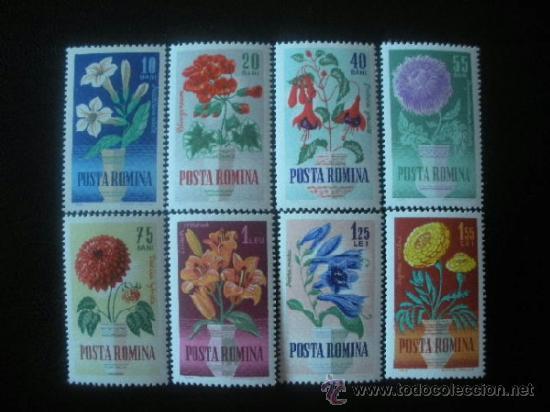 RUMANIA 1964 IVERT 1993/2000 *** FLORA - FLORES DIVERSAS (Sellos - Temáticas - Flora)