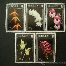 Sellos: JERSEY 1993 IVERT 589/93 *** FLORA - ORQUIDEAS DE JERSEY (II) - FLORES . Lote 38158284