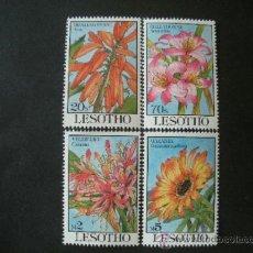 Sellos: LESOTHO 1993 IVERT 1078/81 *** FLORA - FLORES DIVERSAS (I). Lote 38524935
