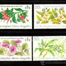 Sellos: SAN KITTS 251/54** - AÑO 1971 - FLORA - FLORES. Lote 38682048