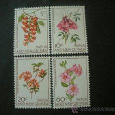 Sellos: PAPUA Y NUEVA GUINEA 1966 IVERT 101/4 *** FLORA - FLORES DIVERSAS. Lote 39156365