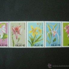 Sellos: PALAU 1990 IVERT 320/4 *** FLORA - ORQUIDEAS DE PALAU . Lote 39465518