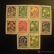 Sellos: AUSTRIA 1948 IVERT 722/31 *** PRO ANTITUBERCULOSIS - FLORES DIVERSAS - FLORA. Lote 40931934