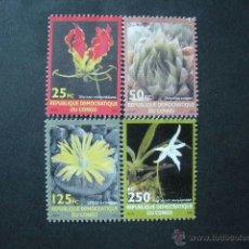 Sellos: CONGO 2001 IVERT 1535/8 *** FLORA - FLORES DIVERSAS. Lote 41033184