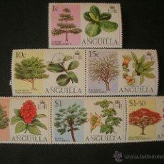Sellos: ANGUILLA 1976 IVERT 198/203 *** FLORA - FLORES DE ARBOLES. Lote 41273876