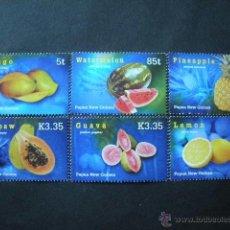 Sellos: PAPUA Y NUEVA GUINEA 2007 IVERT 1127/32 *** FLORA - FRUTAS TROPICALES. Lote 41390727