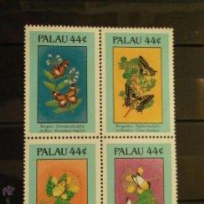Sellos: PALAU. 150/53 FLORES Y MARIPOSAS: PAPILIO, LEPIDOPTERA**. 1987. SELLOS NUEVOS Y NUMERACIÓN YVERT.. Lote 42354867