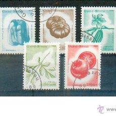 Sellos: GUINEA .-- SERIE DE FLORES Y FRUTOS. Lote 43034454