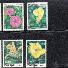 Sellos: NICARAGUA AÑO 1985 Nº YVERT 1365 - 67 Y AEREO 1090 -92 FLORA. Lote 43386251