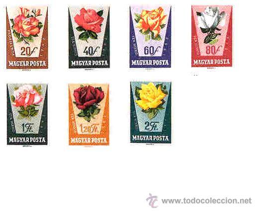 FLORA - HUNGRIA 1962 Nº YVERT 1516-22 NUEVOS SIN FIJASELLOS (Sellos - Temáticas - Flora)