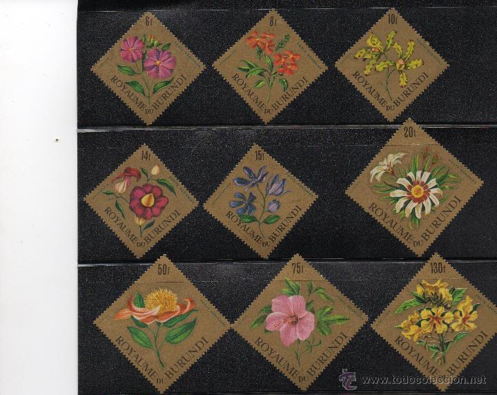 FLORA - BURUNDI - AÑO 1966 - Nº YVERT 233 - 41 - SELLOS NUEVOS (Sellos - Temáticas - Flora)