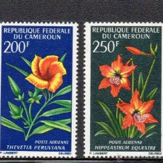 Sellos: FLORA - CAMERUN AÑO 1967 - Nº YVERT A 99-100 SELLOS NUEVOS. Lote 43965630