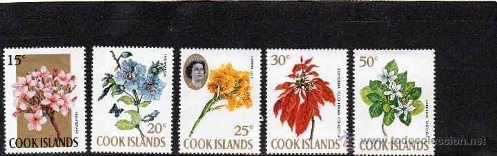 FLORA - ISLAS COOK - AÑO 1967 - Nº MICHEL 163-64-65-66-67 NUEVOS (Sellos - Temáticas - Flora)