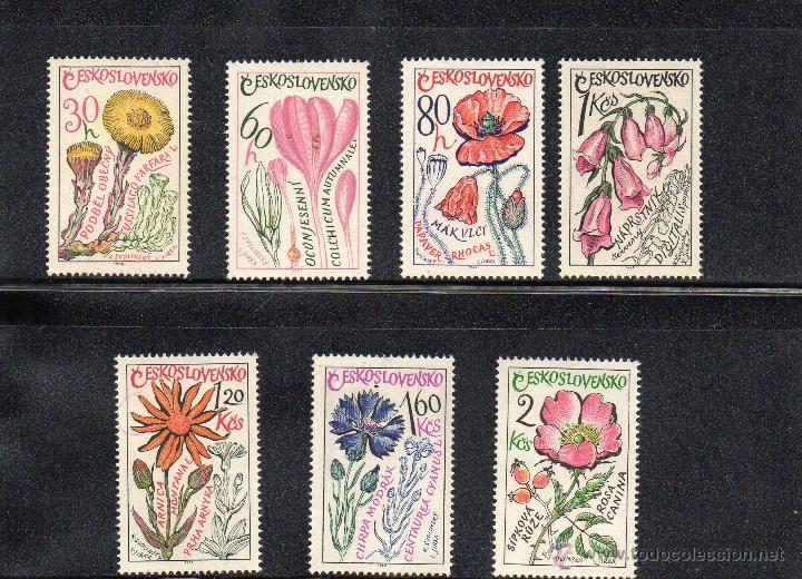 FLORA - PLANTAS MEDICINALES - CHECOSLOVAQUIA - AÑO 1965 - Nº YVERT 1448-54 NUEVOS (Sellos - Temáticas - Flora)