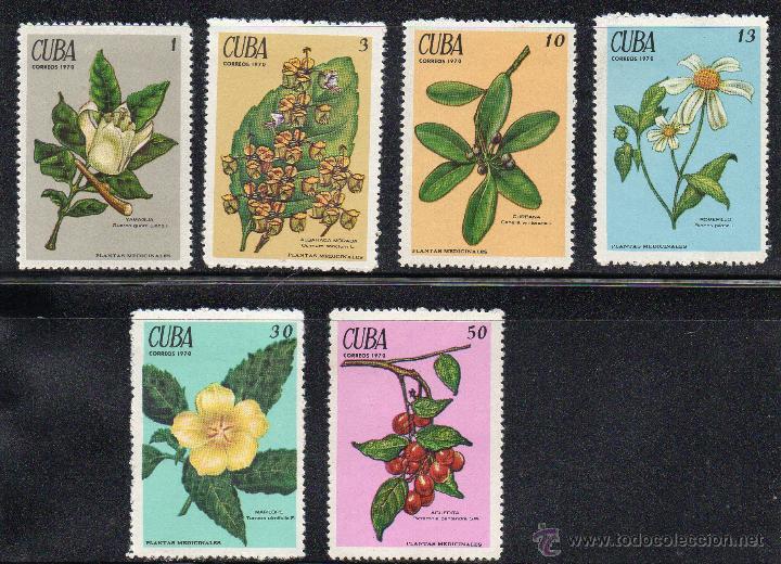 FLORA - CUBA - AÑO 1970 - Nº YVERT 1377-82 NUEVOS (Sellos - Temáticas - Flora)