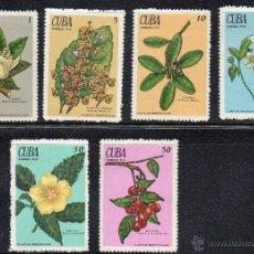 Sellos: FLORA - CUBA - AÑO 1970 - Nº YVERT 1377-82 NUEVOS. Lote 43967419