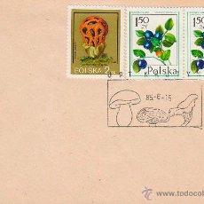Sellos: POLONIA, MICOLOGIA, SETAS, MATASELLO DE 15-6-1985. Lote 46044604