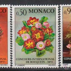 Sellos: MONACO IVERT 897/9, CONCURSO INTERNACIONAL DE RAMOS DE FLORES, NUEVO ***. Lote 46175166