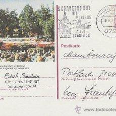 Sellos: ALEMANIA, FIESTA DE LAS FLORES EN AURICH, ENTERO POSTAL MATASELLADO EL 30-6-1983. Lote 46667156