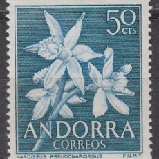 Sellos: ANDORRA Nº 68, FLORES DEL PIRINEO: NARCISO, NUEVO ***. Lote 54344114
