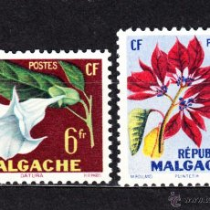Sellos: MADAGASCAR 336/37** - AÑO 1959 - FLORA - FLORES . Lote 49085436