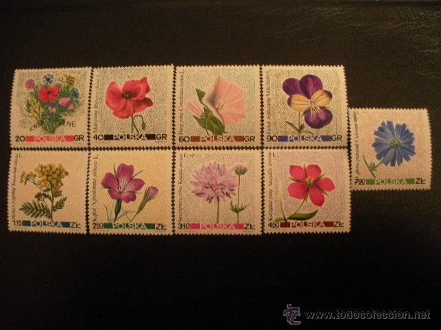 POLONIA 1967 IVERT 1636/44 *** FLORES DEL CAMPO - FLORA (Sellos - Temáticas - Flora)