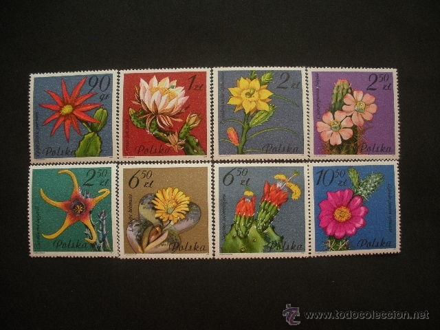 POLONIA 1981 IVERT 2599/606 *** FLORES DE CACTUS - FLORA (Sellos - Temáticas - Flora)