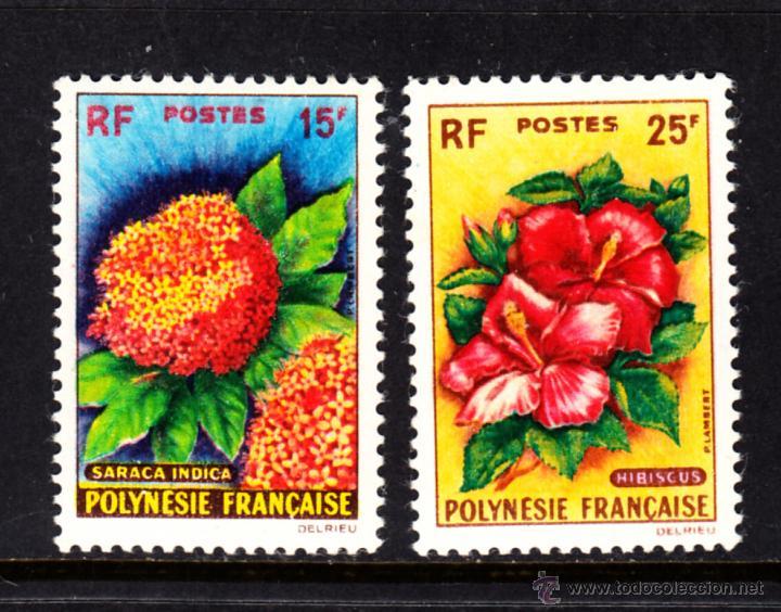 POLINESIA 15/16** - AÑO 1962 - FLORA - FLORES (Sellos - Temáticas - Flora)