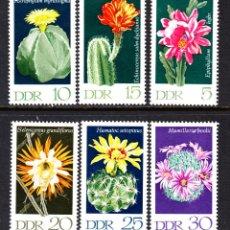 Sellos: ALEMANIA ORIENTAL 1316/21** - AÑO 1970 - FLORA - FLORES - CACTUS. Lote 112794958