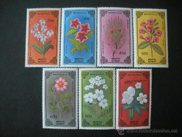 MONGOLIA 1986 IVERT 1400/6 *** FLORA - PLANTAS EXOTICAS (Sellos - Temáticas - Flora)
