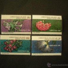 Sellos: CHRISTMAS ISLAND 1990 IVERT 328/31 *** FLORA - FLORES DE TEMPORADA. Lote 53087814