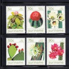 Sellos: SURINAM 982/87** - AÑO 1985 - FLORA - FLORES DE CACTUS. Lote 268173034