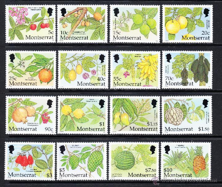 MONTSERRAT 1048/63** - AÑO 2001 - FLORA - FRUTOS (Sellos - Temáticas - Flora)