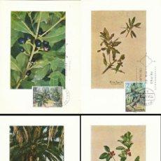 Sellos: EDIFIL 2120/4, FLORA HISPANICA 1973, FLORA DE CANARIAS, TARJETA MAXIMA DE PRIMER DIA 21-3-1973 SERIE. Lote 54369836