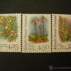 Sellos: GROENLANDIA 1996 IVERT 263/5 *** FLORA - ORQUIDEAS. Lote 54504697