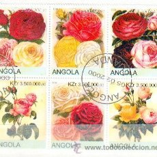 Sellos: ANGOLA & FLORES (10). Lote 54842070