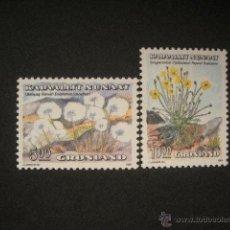 Sellos: GROENLANDIA 1989 IVERT 185/6 *** FLORA PROTEGIDA - FLORES (I). Lote 54923744