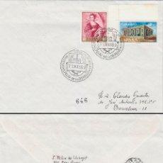 Sellos: AÑO1969, EXPOSICION NACIONAL DE ROSAS EN SAN FELIU DE LLOBREGAT, CIRCULADO. Lote 54980772