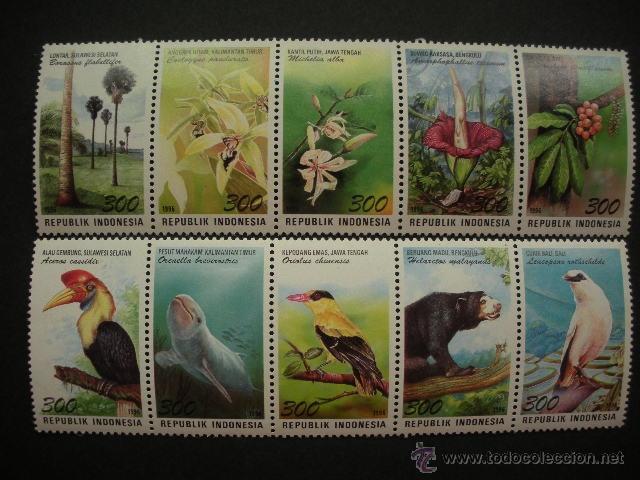 INDONESIA 1996 IVERT 1483/92 *** FAUNA Y FLORA (Sellos - Temáticas - Flora)