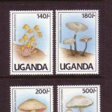 Sellos: UGANDA 1991 IVERT 762/5 *** FLORA - SETAS. Lote 57160773