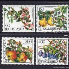 Timbres: YUGOSLAVIA 2100/03** - AÑO 1987 - FLORA - ARBOLES FRUTALES - FLORES Y FRUTOS. Lote 199781597