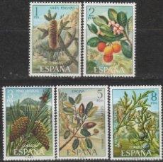 Sellos: EDIFIL 2085/9, FLORA HISPANICA 1972, NUEVO *** (SERIE COMPLETA). Lote 57330267