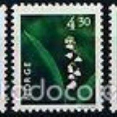 Sellos: NORUEGA 1997 IVERT 1187/91 *** SERIE BÁSICA - FLORA - FLORES DIVERSAS (I). Lote 57534068