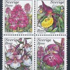 Sellos: SUECIA 1999 IVERT 2096/9 *** FLORA - ORQUIDEAS. Lote 57543971