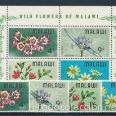 Sellos: MALAWI 1968 IVERT 80/3 Y HB-10 *** FLORA - FLORES SILVESTRES. Lote 58118710